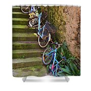 Range Of Bikes Shower Curtain