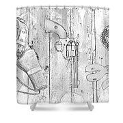 Ranger Up - Bw Shower Curtain