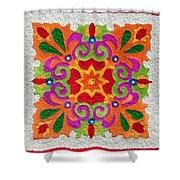 Rangoli Made With Coloured Sand Shower Curtain