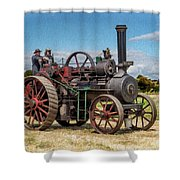 Ransomes Steam Engine Shower Curtain
