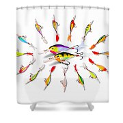 Rapala Knights Of The Sea Shower Curtain