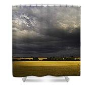 Rapefield Under Dark Sky Shower Curtain