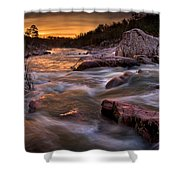 Rapids At Dawn Shower Curtain