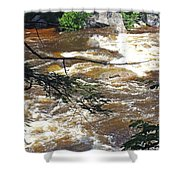 Rapids Of The Swift River Kancamagus Hwy View White Mountains Nh Shower Curtain