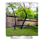 Rapps Covered Bridge Over French Creek Shower Curtain