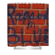 Rapsody In Blue Shower Curtain