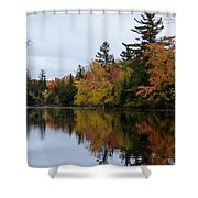 Raquette River Reflections Shower Curtain