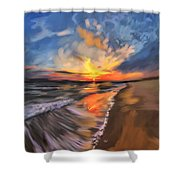 Rare California Sunset Shower Curtain