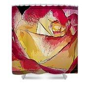 Rasberries And Cream Painterly Shower Curtain