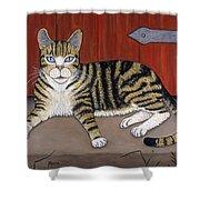 Rascal The Cat Shower Curtain