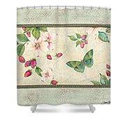 Raspberry Bliss Shower Curtain