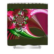 Raspberry Garden Shower Curtain