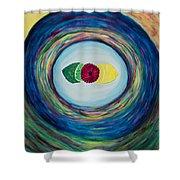 Raspberry Lemon Lime Shower Curtain