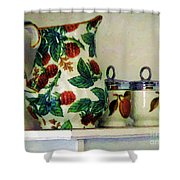 Raspberry Pitcher Shower Curtain