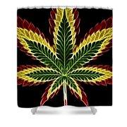 Rasta Marijuana Shower Curtain by Adam Romanowicz