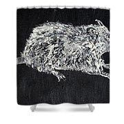 Rat - Oil Portrait Shower Curtain