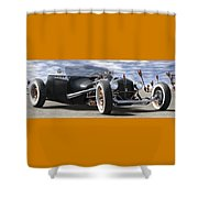 Rat Rod On Route 66 2 Panoramic Shower Curtain