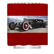 Rat Rod On Route 66 Panoramic Shower Curtain