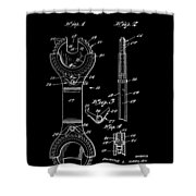 Ratchet Wrench Patent Shower Curtain