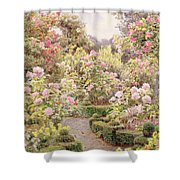 Raundscliffe - Everywhere Are Roses Shower Curtain