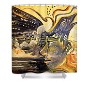 Raven Call Shower Curtain