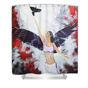 Raven Freed Shower Curtain