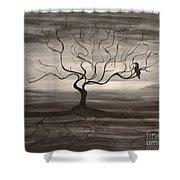 Raven Sonatta Shower Curtain