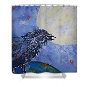 Raven Speak Shower Curtain