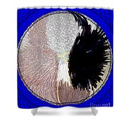 Raven-wold Mandala Yantra Shower Curtain