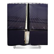 Ravenel Bridge Night View Shower Curtain