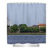 Ravenel Bridge Towers Shower Curtain