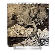 Ravenlight Tree Shower Curtain
