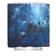 Ravens Of The Blue Shower Curtain