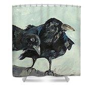 Raven's Perch Shower Curtain