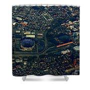 Ravens Stadium And Camden Yards Shower Curtain