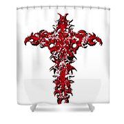 Ravi Cross 3 Shower Curtain