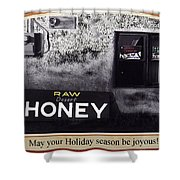 Raw Desert Honey Christmas Card Florence Arizona 2007 Shower Curtain