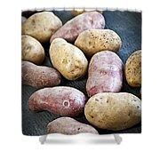 Raw Potatoes Shower Curtain