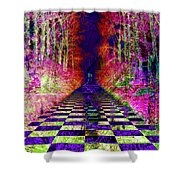 Rawa River Abstract Art Shower Curtain by Mary Clanahan