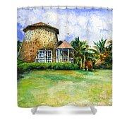 Rawlin's Plantation Inn St. Kitts Shower Curtain