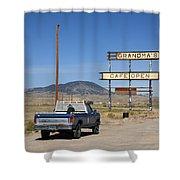 Rawlins Wyoming - Grandma's Cafe Shower Curtain