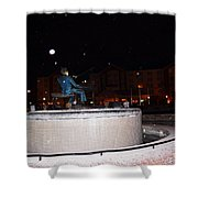 Ray Charles Statue In A Odd Weather Event Shower Curtain
