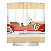 Ray Dietrich Packard Victoria Roadster Concept Design Shower Curtain