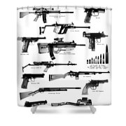 Raygunz Poster Shower Curtain