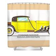 1922 Mercedes Benz By Raymond Dietrich Z Shower Curtain