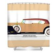 Raymond H Dietrich Packard Sport Phaeton Concept Shower Curtain