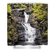 Raymondskill Falls In Milford Pa Shower Curtain
