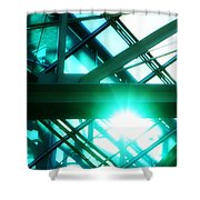 Rays And Beams Shower Curtain