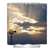 Rays Behind The Mill Shower Curtain