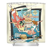 Ray's Drive-in - Brunette Shower Curtain